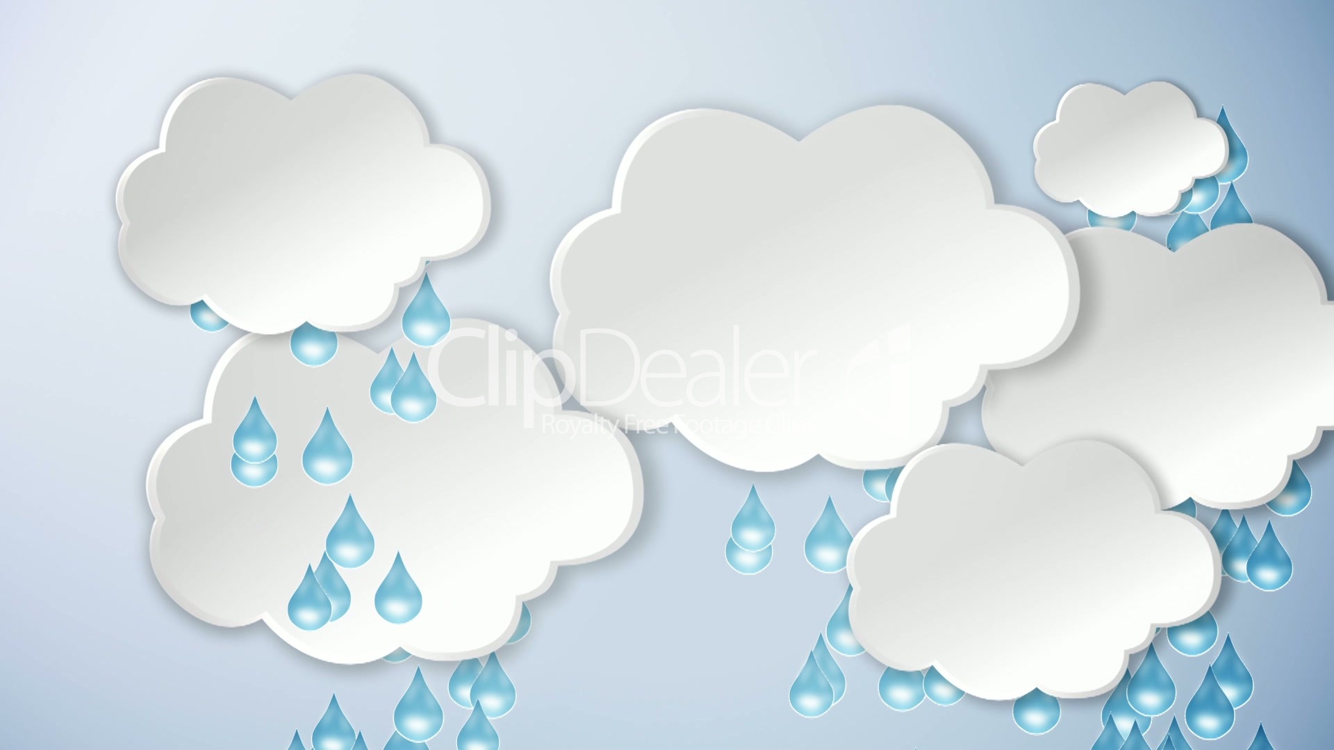 clouds and rain and sun cartoon royalty free video and stock