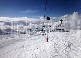 gondola and chair lift at ski resort