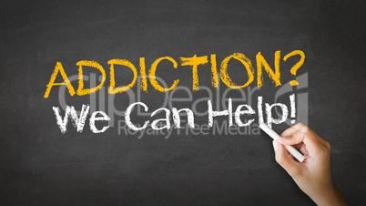 Addiction We can Help Chalk Illustration