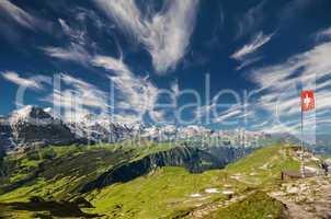 Sicht vom Faulhorn auf Eiger Mönch und Jungfrau