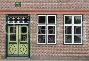Tür und Fenster in Friedrichstadt, Schleswig-Holstein, Deutschl