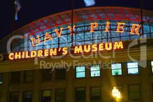 Navy Pier in Chicago in the night