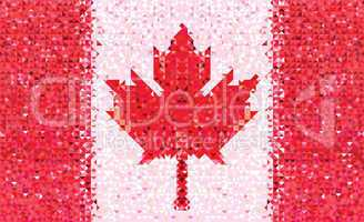 Flag Canada geometric pattern