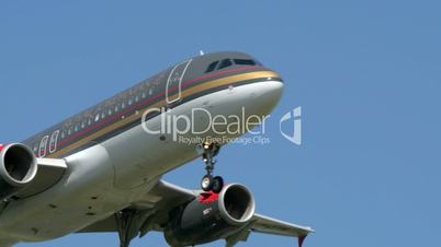 Royal Jordanian airplane fly by close 11015