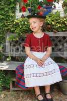 Schöne kleines Mädchen aus Bayern