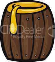 barrel of honey clip art cartoon illustration