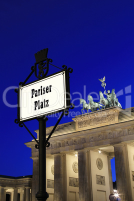 Berlin - Pariser Platz with Brandenburger Tor in background at b