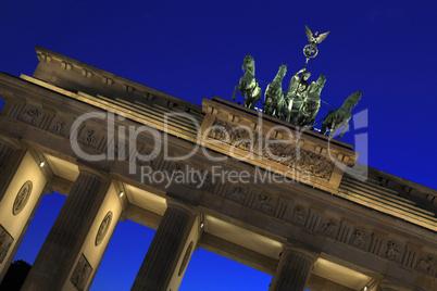 Berlin - Brandenburger Tor - Quadriga at blue hour