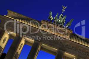 Berlin - Brandenburger Tor - Quadriga at blue hour