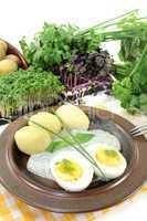 Frankfurter grüne Soße mit Ei