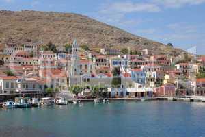 Hafen der Insel Chalki, Griechenland