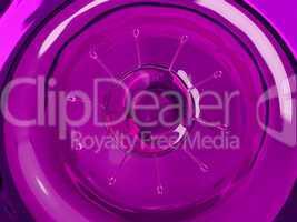 Splash and splatter of purple fluid with droplets