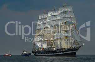 Segelboot Großsegler auf der Ostsee