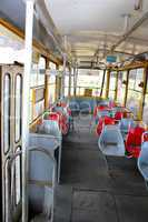 view inside of tramway