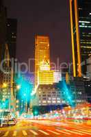 new york city in the night