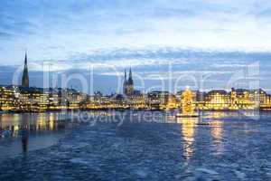Hamburg Alster Lake at Christmas