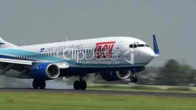Cabo Verde Airlines airplane late touch down 11032