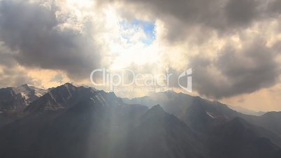 Sun Beams Mountains