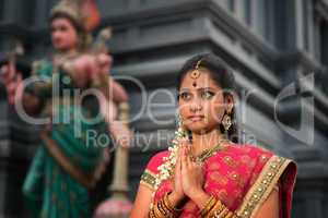 Young Indian woman praying
