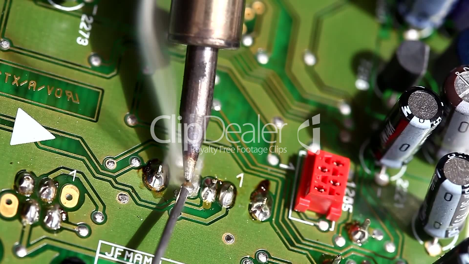 Soldering Tin And Circuitelectronic Circuit Board Royalty Free How To Solder A Pcb Repair Resistor Semiconductor Service