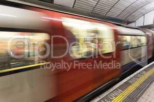 London subway motion