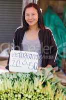 asian woman seller