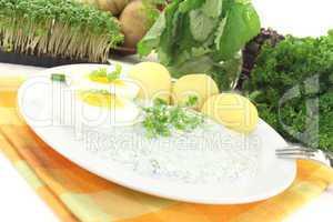 Frankfurter grüne Soße mit Kresse
