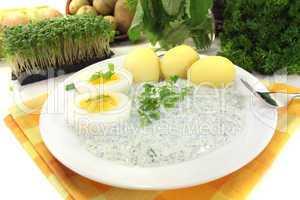 Frankfurter grüne Soße mit sieben Kräutern