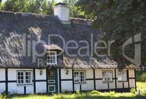 Reetdachhaus in Siesby an der Schlei, Schleswig-Holstein