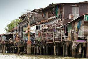 Shanty house in bangkok