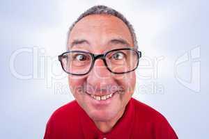 Funny men portrait