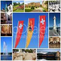 Geneva city collage, Switzerland