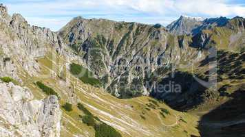 Alpine landscape close to Oberstdorf