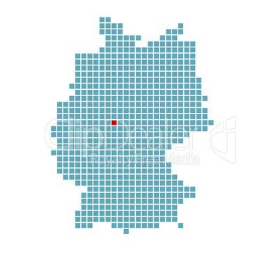 Markierung Von Kassel Auf Vereinfachter Deutschlandkarte Royalty