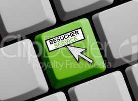 Besucher Service online