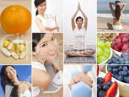 Montage Oriental Female Woman Healthy Lifestyle