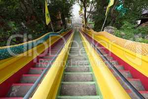 buddhist temple stairs