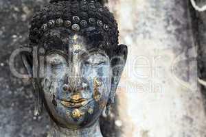 buddha head detail