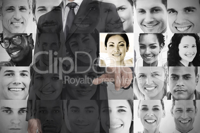 Stylish businessman choosing profile picture