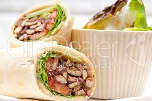 kafta shawarma chicken pita wrap laufrolle sandwich
