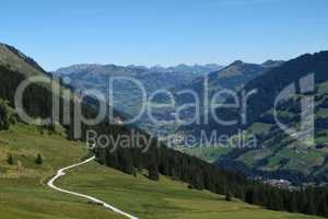 Famous Gstaad from far