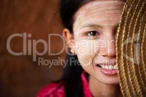 Shy Myanmar girl