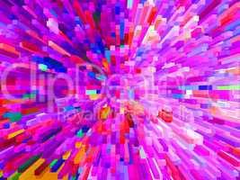 multi-coloured explosion