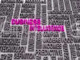 3d Word cloud - business intelligence
