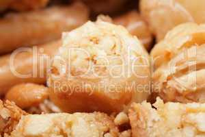 macro shot of a tasty arabian desert baklava.  is a rich, sweet