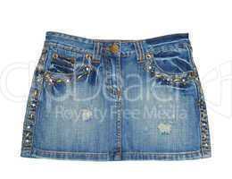 Jean skirt. Mini