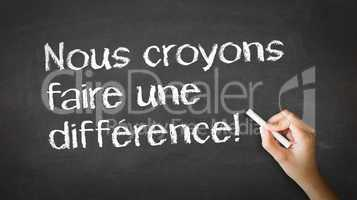 we believe in making a difference (in french)