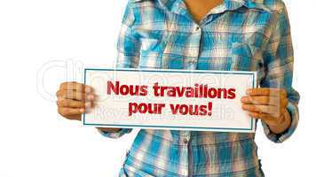 let us work for you (in french)