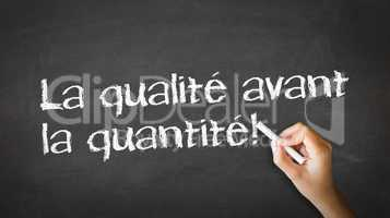quality over quantity (in french)