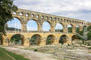 Pont du Gard, old water line of the Romans